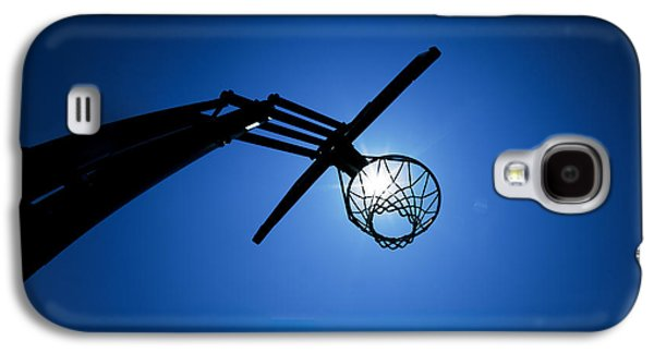 Basketball Hoop Silhouette Galaxy S4 Case by Diane Diederich