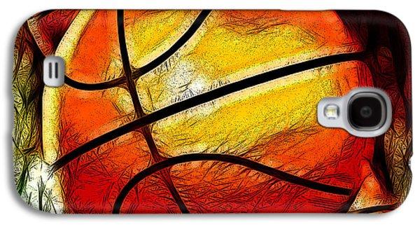 Basketballs Abstract Galaxy S4 Case by David G Paul