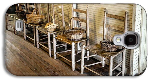 Baskets On Ladder Back Chairs Galaxy S4 Case by Lynn Palmer