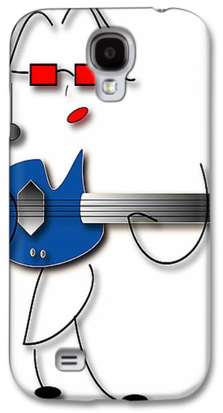 Galaxy S4 Case featuring the digital art Bass Guitar Girl by Marvin Blaine