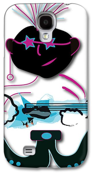 Galaxy S4 Case featuring the digital art Bass Man by Marvin Blaine
