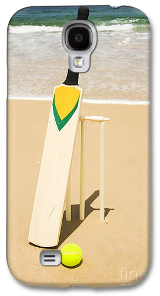 Bat Ball And Stumps Galaxy S4 Case by Jorgo Photography - Wall Art Gallery
