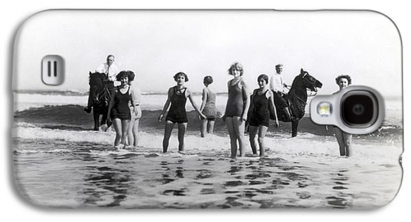Bathers And Horses In The Surf Galaxy S4 Case