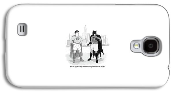 Batman And Superman Stand In Boxers Galaxy S4 Case