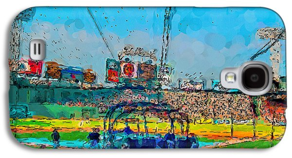 Batting Cage Fenway Galaxy S4 Case by John Farr