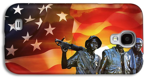 Battle Veterans Of The United States Galaxy S4 Case by Daniel Hagerman