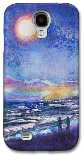 Beach At Night Galaxy S4 Case by Patricia Allingham Carlson