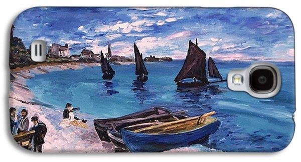 Beach At Sainte Adresse Monet Galaxy S4 Case by Eric  Schiabor