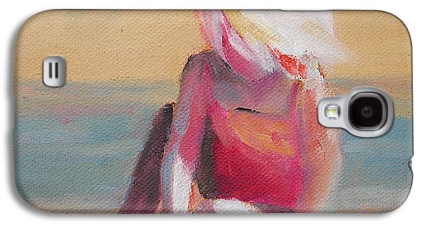Beach Blonde Girl In The Sand Galaxy S4 Case by Mary Hubley