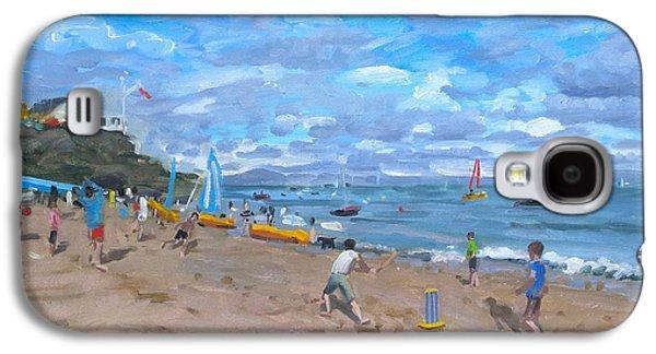 Beach Cricket Galaxy S4 Case by Andrew Macara