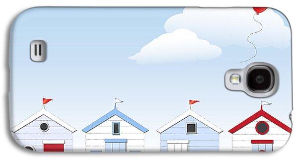 Beach Huts Galaxy S4 Case by Jane Rix