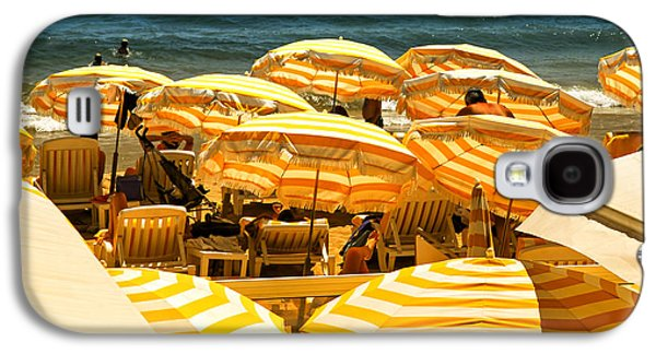 Beach In Cannes  Galaxy S4 Case by Elena Elisseeva