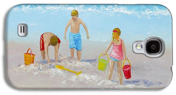 Beach Painting - Sandcastles Galaxy S4 Case