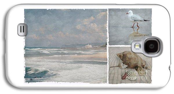 Beach Triptych 1 Galaxy S4 Case by Linda Lees