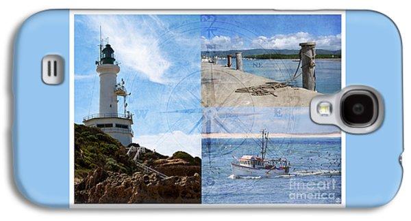 Beach Triptych 2 Galaxy S4 Case by Linda Lees