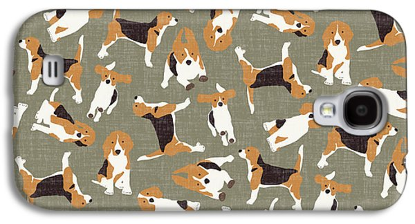 Beagle Scatter Stone Galaxy S4 Case by Sharon Turner