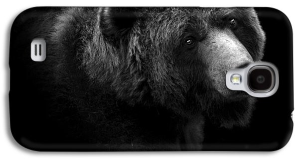 Portrait Of Bear In Black And White Galaxy S4 Case by Lukas Holas