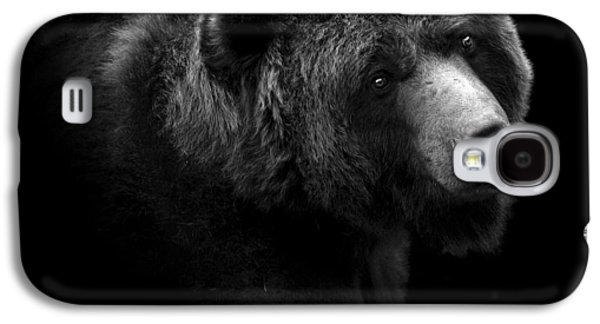 Portrait Of Bear In Black And White Galaxy S4 Case