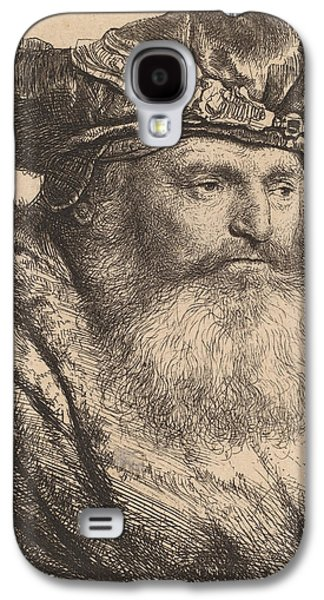 Bearded Man In A Velvet Cap With A Jewel Clasp Galaxy S4 Case by Rembrandt