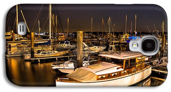 Beaufort Sc Night Harbor Galaxy S4 Case by Reid Callaway