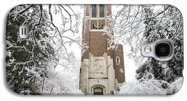 Michigan State Galaxy S4 Case - Beaumont Tower Ice Storm  by John McGraw
