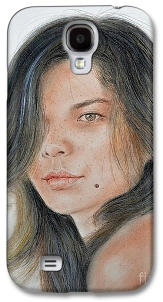 Beautiful And Sexy Actress Jeananne Goossen IIi  Galaxy S4 Case by Jim Fitzpatrick