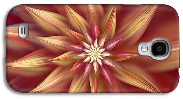 Beautiful Dahlia Abstract Galaxy S4 Case