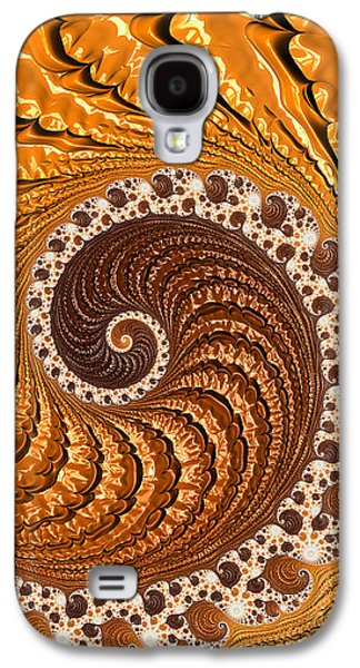 Beautiful Luxe Golden And Brown Spiral Galaxy S4 Case