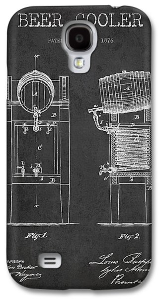 Beer Cooler Patent Drawing From 1876 - Dark Galaxy S4 Case by Aged Pixel