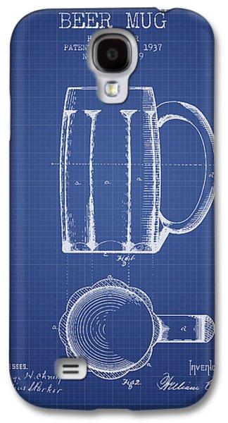Beer Mug Patent 1876 - Blueprint Galaxy S4 Case