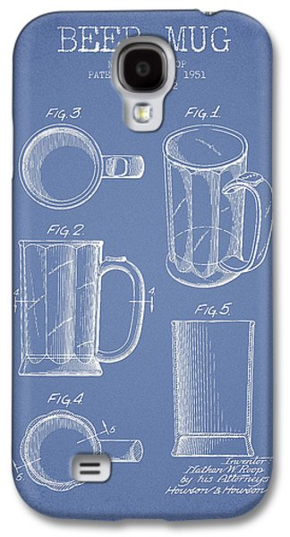 Beer Mug Patent Drawing From 1951 - Light Blue Galaxy S4 Case