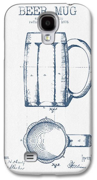 Beer Mug Patent From 1876 -  Blue Ink Galaxy S4 Case