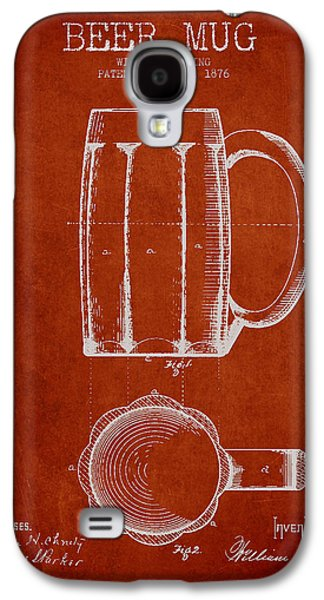 Beer Mug Patent From 1876 - Red Galaxy S4 Case