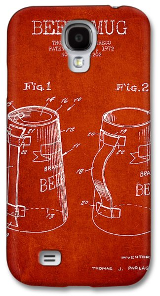 Beer Mug Patent From 1972 - Red Galaxy S4 Case