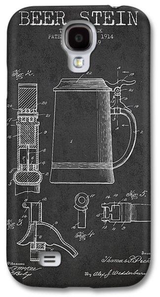 Beer Stein Patent From 1914 - Dark Galaxy S4 Case by Aged Pixel