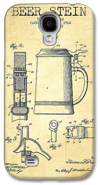Beer Stein Patent From 1914 -vintage Galaxy S4 Case by Aged Pixel