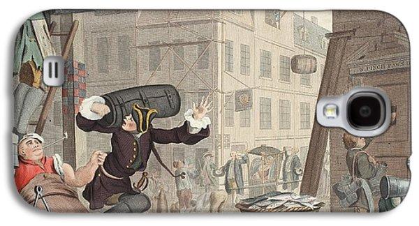 Beer Street, Illustration From Hogarth Galaxy S4 Case by William Hogarth