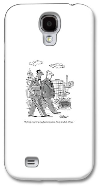 Before I Became A Black Conservative Galaxy S4 Case by Peter Steiner