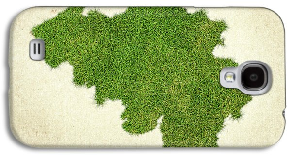 Belgium Grass Map Galaxy S4 Case by Aged Pixel