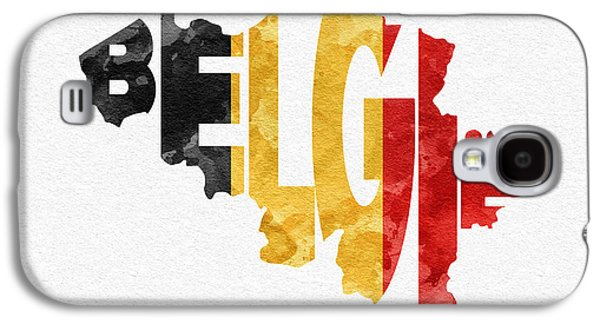 Belgium Typographic Map Flag Galaxy S4 Case