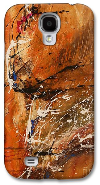 Believe In Dreams - Abstract Art Galaxy S4 Case by Ismeta Gruenwald