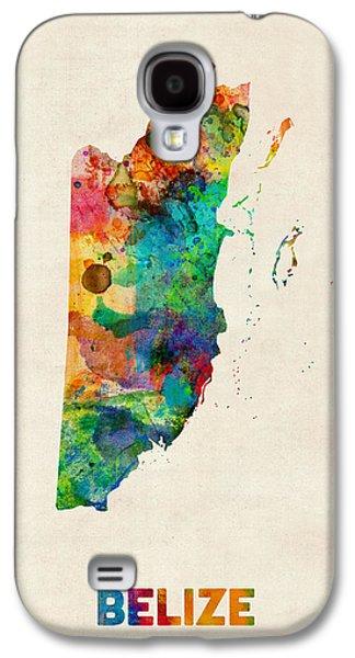 Belize Watercolor Map Galaxy S4 Case by Michael Tompsett
