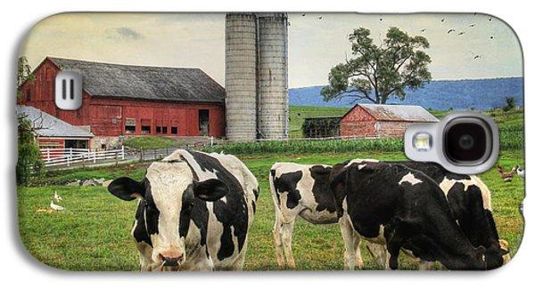 Belleville Amish Farm Galaxy S4 Case by Lori Deiter