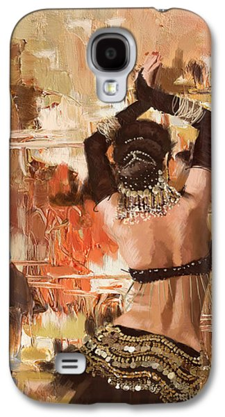 Belly Dancer Back Galaxy S4 Case by Corporate Art Task Force