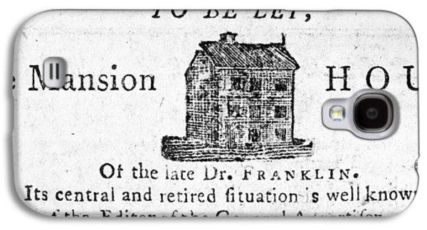 Benjamin Franklin's House Galaxy S4 Case by Granger
