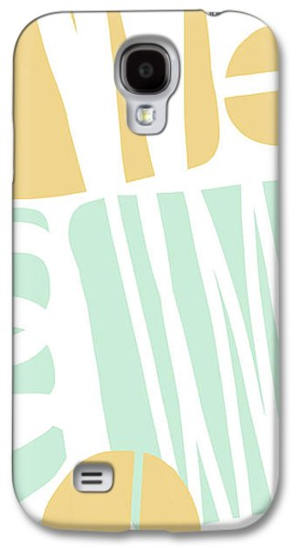 Bento 1- Abstract Shape Painting Galaxy S4 Case by Linda Woods