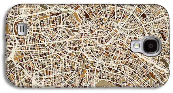 Berlin Germany Street Map Galaxy S4 Case by Michael Tompsett
