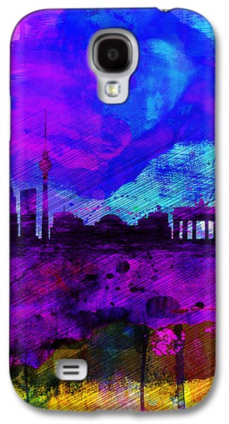 Berlin Watercolor Skyline Galaxy S4 Case by Naxart Studio