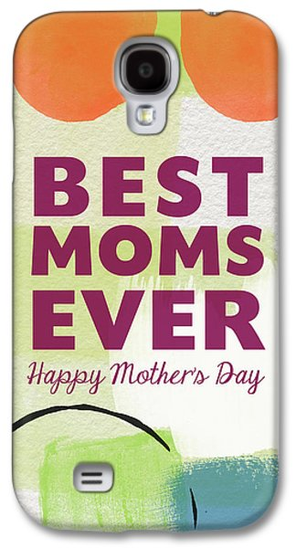 Best Moms Card- Two Moms Greeting Card Galaxy S4 Case by Linda Woods