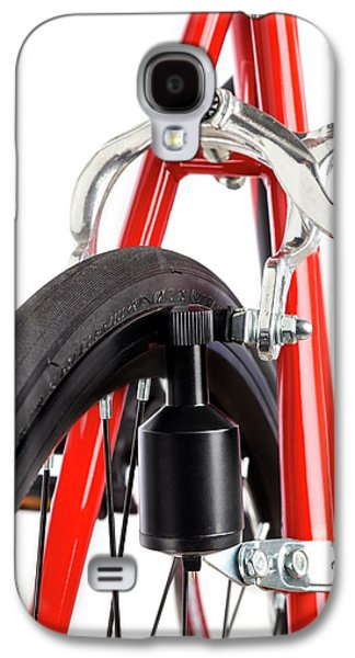 Bicycle Dynamo Fixed To Back Wheel Galaxy S4 Case by Science Photo Library
